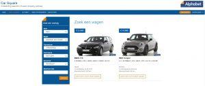 Alphabet Car Square: een nieuwe website voor verkoop ex-leasewagens