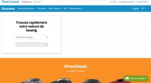 DirectLease: un nouveau site adapté au marché et aux clients