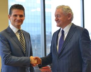 Accord entre le Ministre Fédéral de la Mobilité François Bellot et Coyote