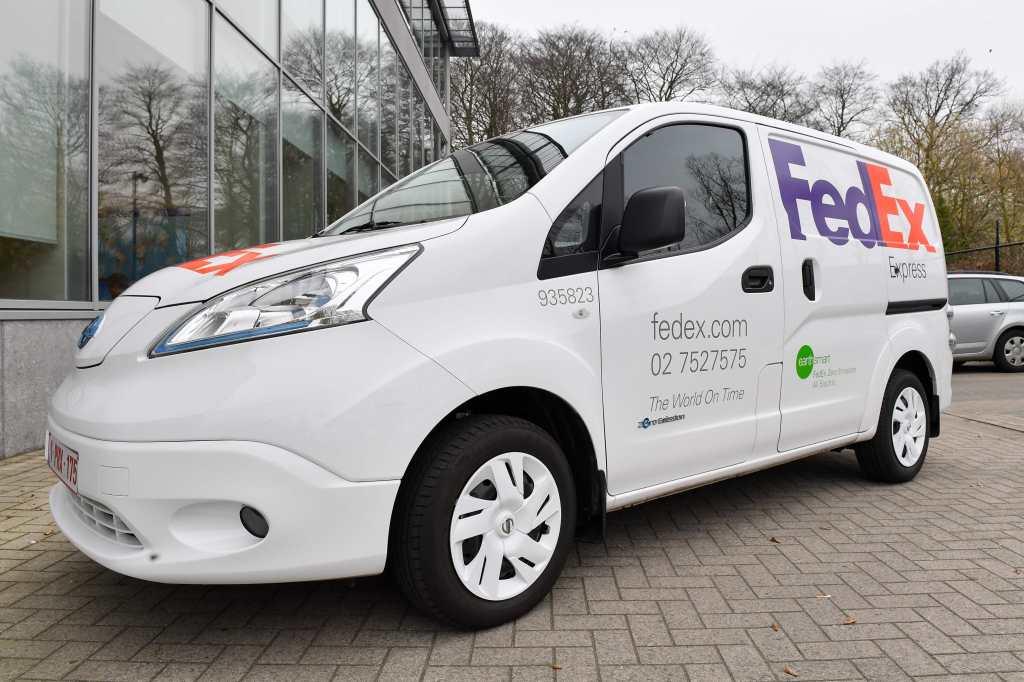 Fedex Introduceert Volledig Elektrische Nissan E Nv200 Bestelwagens