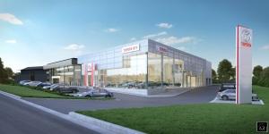 Toyota et Lexus se construisent des showrooms flambant neufs à Zaventem