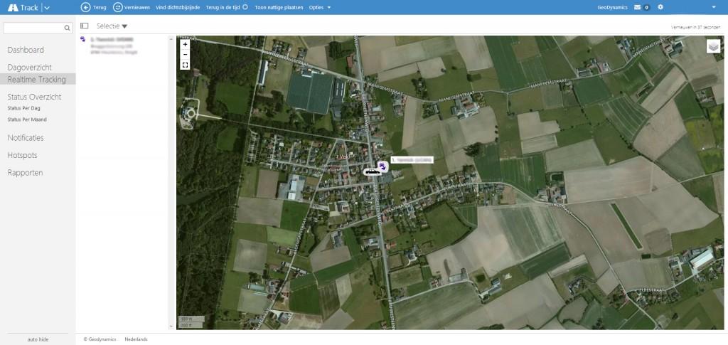 Avec GeoDynamics, vous pouvez suivre en temps réel les déplacements de vos véhicules.