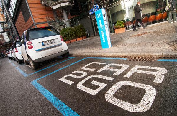 Erste E-Carsharing-Strasse Europas am Potsdamer Platz